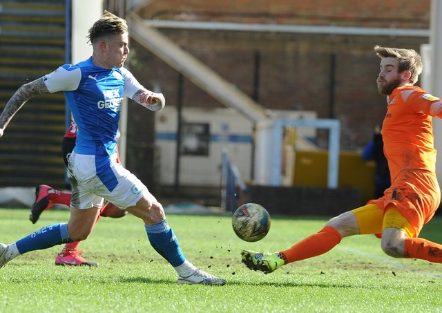 Sammie Szmodics in action for Posh against Sunderland on Easter Monday. Photo: David Lowndes.
