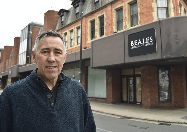 Tony Brown, chief executive of Beales, outside the store in Westgate. EMN-210104-165656009