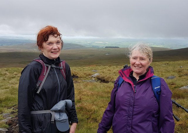 Diane Ahearne and Deborah Slator during a previous climb