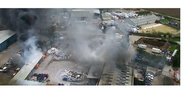 More than 50 firefighters attended the blaze