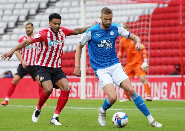 Mark Beevers of Peterborough United in action at Sunderland earlier this season.