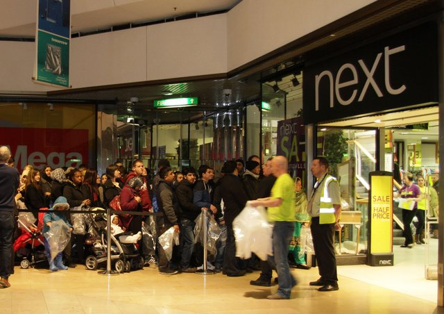 Next in Queensgate during the Boxing Day sales eight years ago. ENGEMN00120131227083606