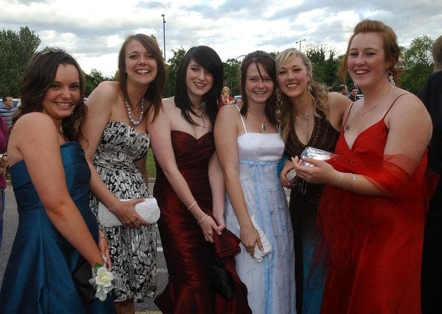 Sawtry College Year 11 prom, Burgess Hall, St Ives, 2007.