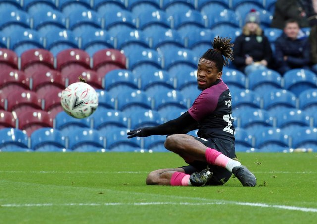 Ivan Toney scores for Posh against Burnley in the FA Cup last season.
