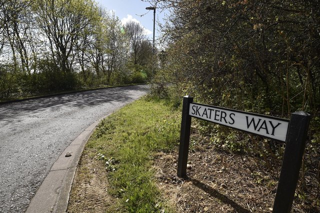 Skaters' Way in Werrington was thought up by the local neighbourhood council to mark the days when the land flooded in winter and made a huge natural skating rink.