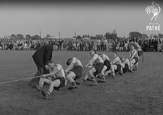 Pathe News featured the Big Pull in Peterborough in 1959.
