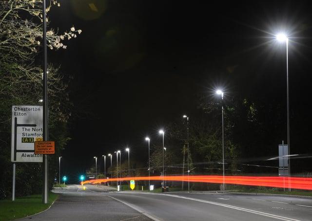 Street lighting between Lynchwood and Alwalton