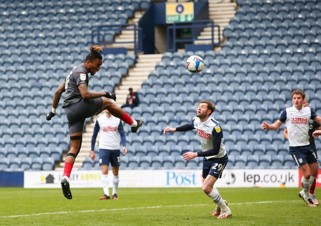 Ivan Toney scores for Brentford at Preston. Photo: Alex Livesey/Getty Images.