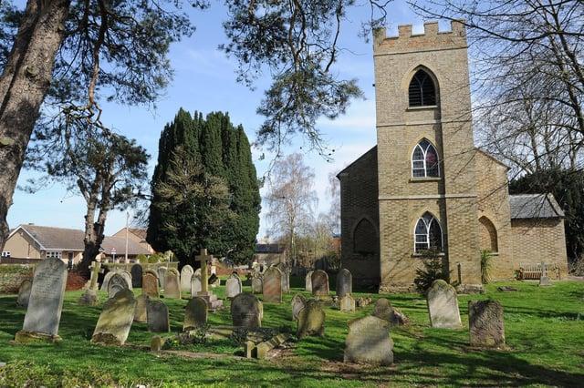 The cemetery in Newborough