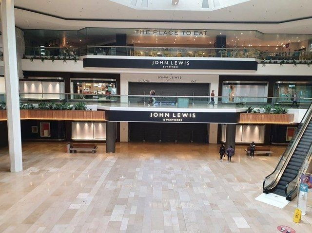 John Lewis did not re-open yesterday