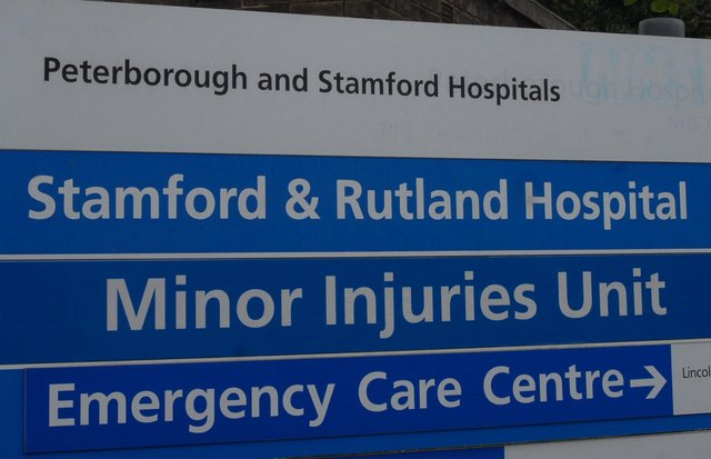 Sign at the entrance of Stamford and Rutland Hospital off Ryhall RoadPhoto: SM110811-086js ENGEMN00120111108114023