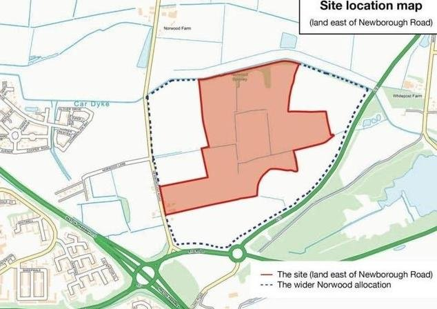 A site plan for the proposed new homes