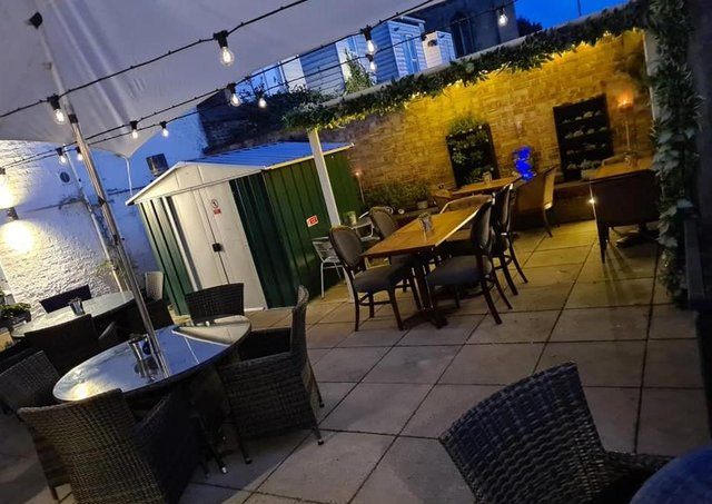 The revamped courtyard at Homme Nouveau in Whittlesey