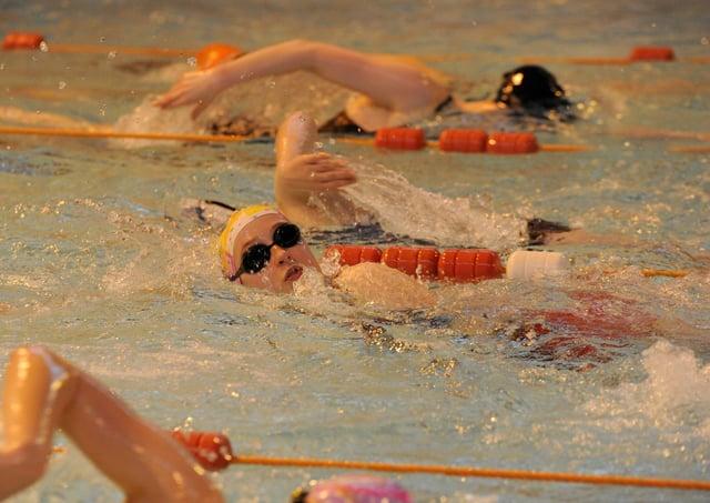 Deepings Swimming Club members in action.
