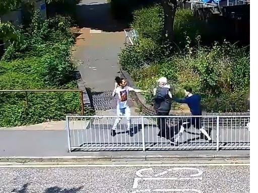 The stabbing was caught on CCTV