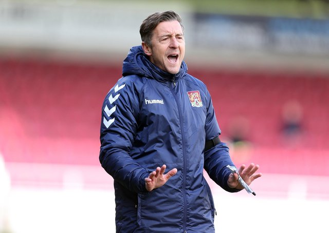 Northampton Town manager Jon Brady.