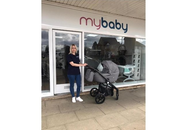 Natalie Harper outside Mybaby on Lawson Avenue, Stanground.