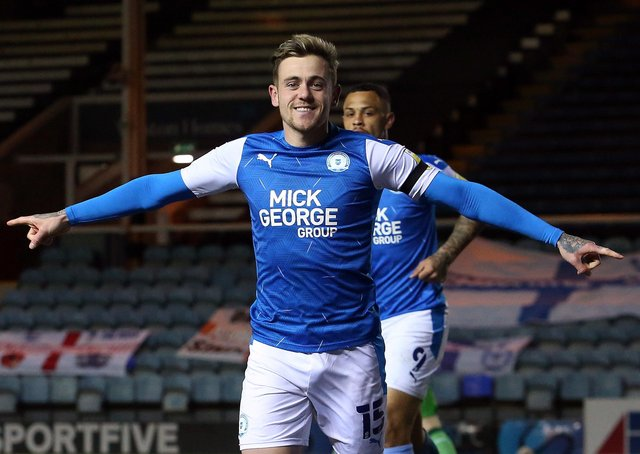 Sammie Szmodics has a big smile on his face after scoring against Northampton Town on Friday night.