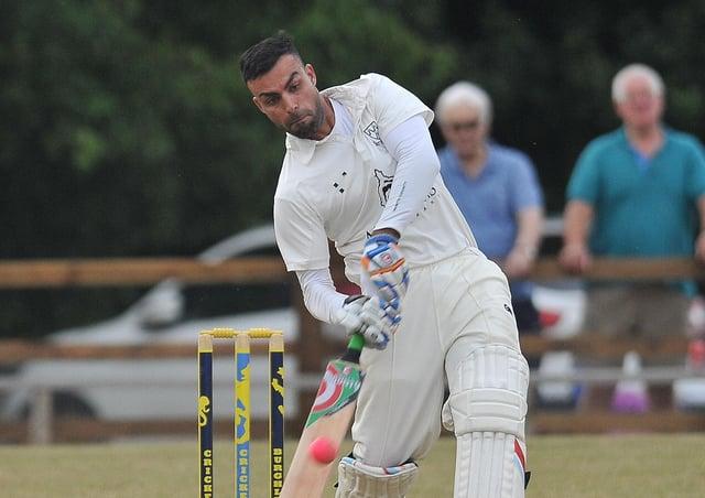 Market Deeping's new hard-hitting batsman Zeeshan Manzoor.