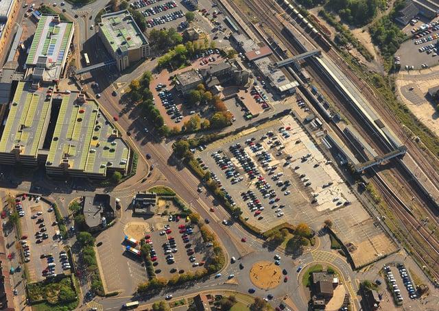 Aerial of Peterborough city centre. ENGEMN00120131021130852