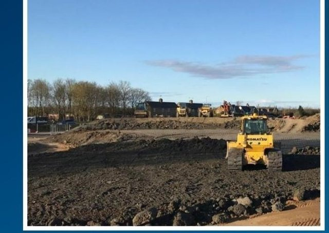 Works progressing on the King's Dyke scheme. Photo: Cambridgeshire County Council