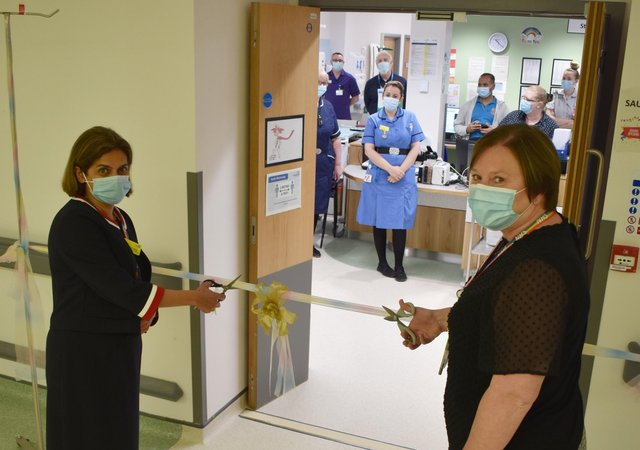 Chief Medical Officer, Dr Kanchan Rege and Chief Nurse, Jo Bennis cutting the ribbon at the official opening yesterday.