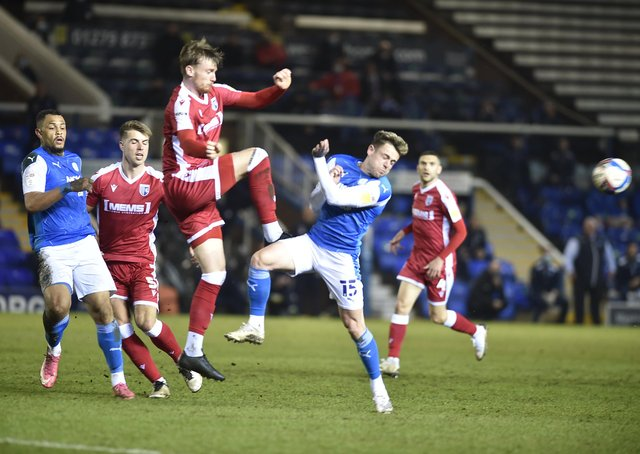Sammie Szmodics in action for Posh against Gillingham. Photo: David Lowndes.