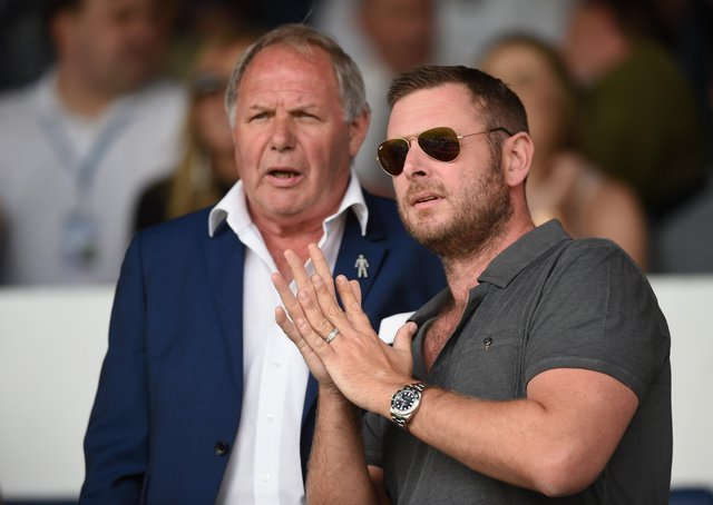 Posh transfer brains Darragh MacAnthony (right) and Barry Fry.