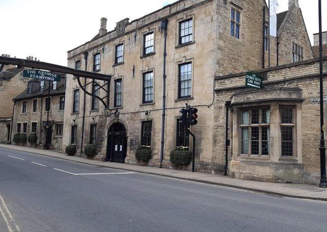 House buyers are paying one of the highest premiums in the country to live within the historic market town of Stamford. The George  in Stamford