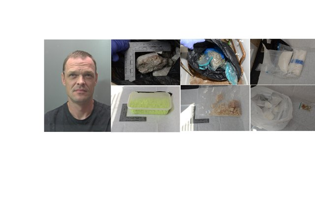 Janis Varakalns and some of the drugs found