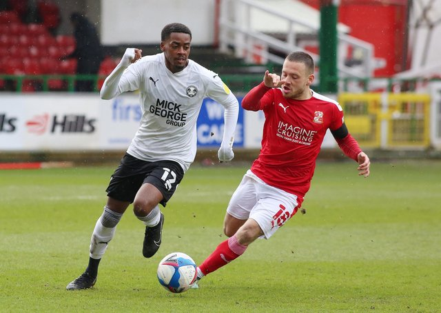 Reece Brown (left) could play for Posh against Doncaster.