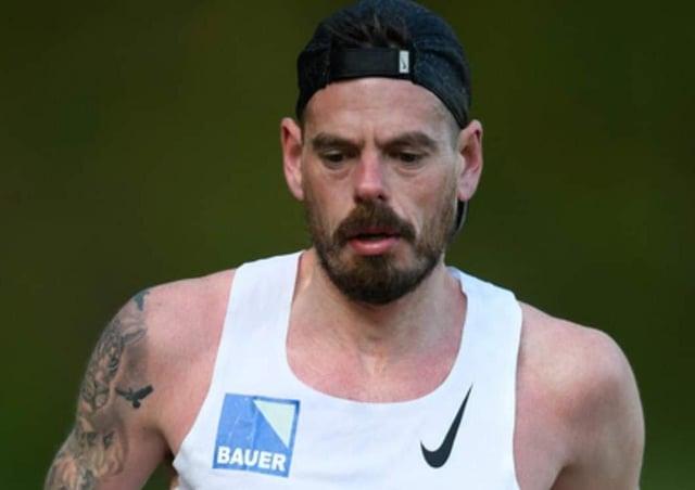 Phil Martin during the Cheshire Elite Marathon.