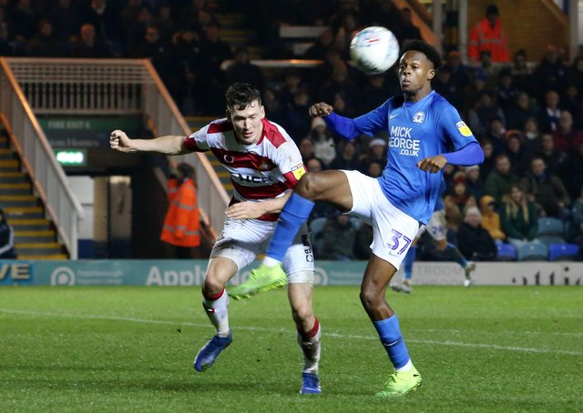 Action from Posh v Doncaster last season. Doncaster won 3-0.