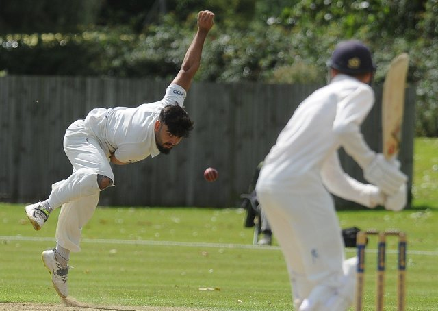 Danny Mohammed plays against Peterborough Town for Brigstock on Saturday.