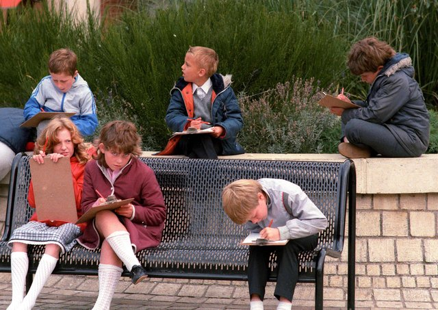Do you recognise any of these youngsters concentrating hard on their clipboards?