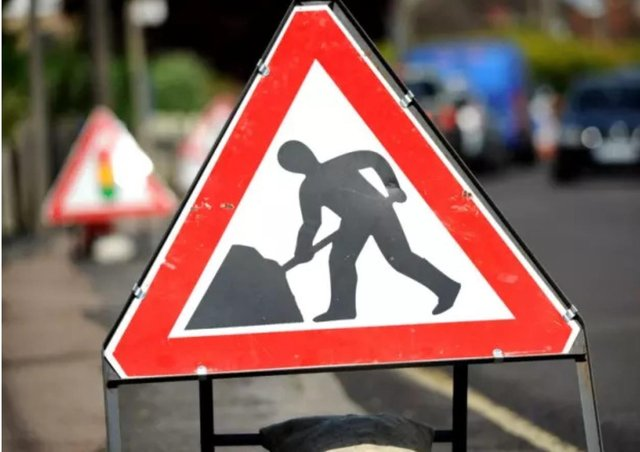 The road will be closed for part of next week