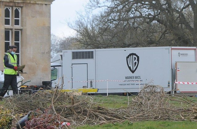 Warner Bros crews have been seen at the house