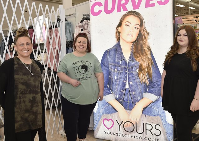 Yours clothing store opens up at Tesco's Serpentine Green. Staff Dannii Green, Chelsea Ralston and Gemma McIlroy EMN-210430-140139009