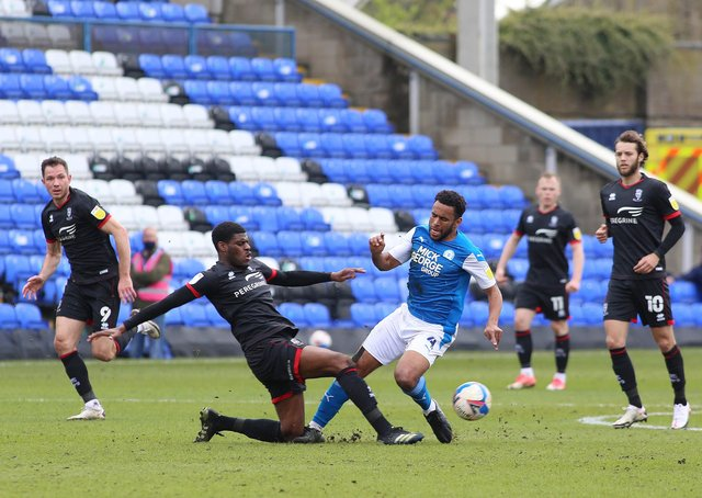 Nathan Thompson in action for Posh against Lincoln. Photo: Joe Dent/theposh.com.