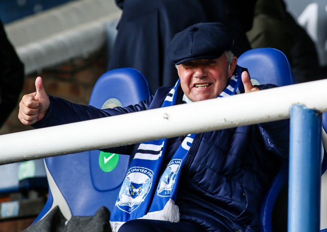 Barry Fry after watching Posh v Lincoln. Photo: Joe Dent/theposh.com.