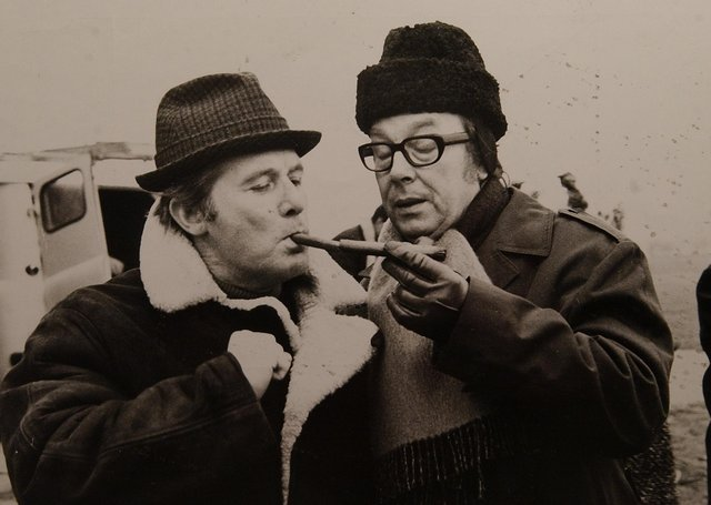 The familiar faces of Eric Morecambe and Ernie  Wise  filming a Christmas special at Sibson in 1972. Both also lived just of Thorpe Rod in Peterborough for a number of years.