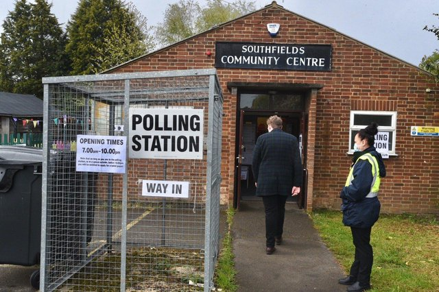 Voting at the 2021 local elections in Peterborough