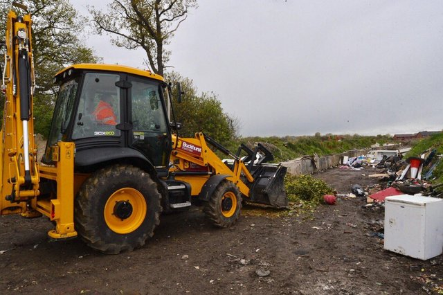 Work starts to clear the rubbish