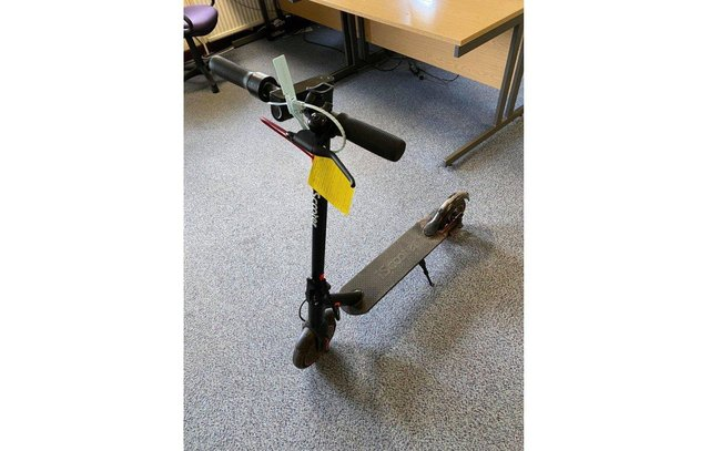 The electric scooter seized from the 16-year-old boy.