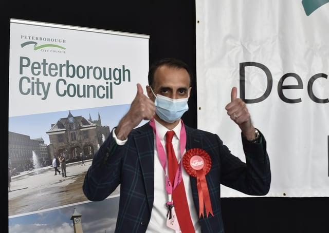 Labour leader Shaz Nawaz wins Park Ward att the local elections.