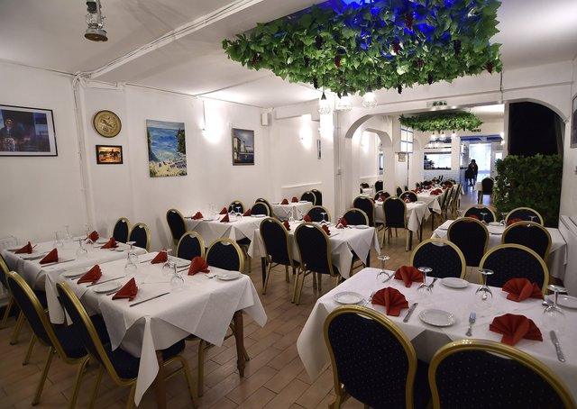 Interiors and exterior of Salamis Taverna, Broadway, Peterborough EMN-210805-131603009