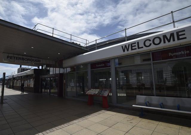 Peterborough Railway Station.