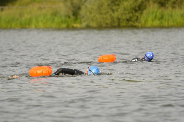 Open water swimming at Ferry Meadows