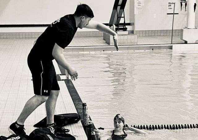 New COPs swimming coach Joe Middleton.