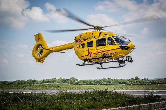 The East Anglian Air Ambulance in action. Picture: Stephen Sparks